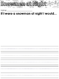FREE Snowmen at Night Writing Prompt