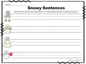 FREE Snowy Sentences