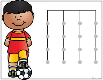 FREE Soccer Matching Mats and Activity Cards (Patterns, Colors, and Matching)