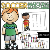FREE Soccer Matching Mats and Activity Cards (Patterns, Co