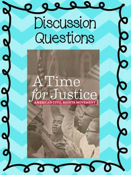 FREE: Social Studies A Time For Justice Discussion Questions