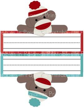 FREE Sock Monkey Nameplates