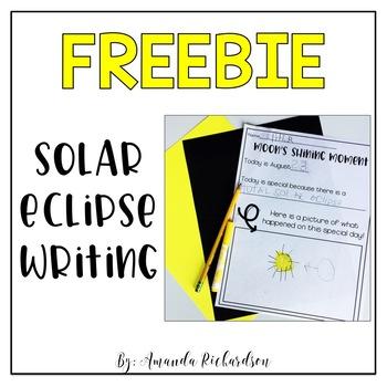 FREE Solar Eclipse 2017 Writing
