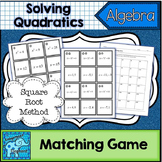 Solve Quadratics by The Square Root Method Matching Game
