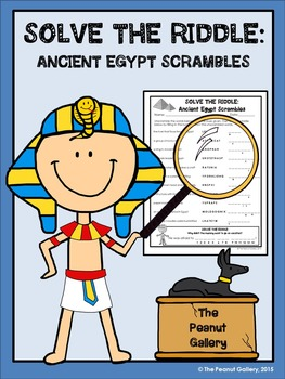 FREE Solve the Riddle: Ancient Egypt Scrambles