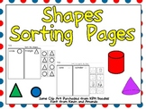 FREE Sorting Shapes Practice Pages- Both 2-d and 3-d (Solid) Shapes