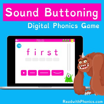 FREE! Sound Buttoning Online Digital Phonics Games | Segmenting and Blending