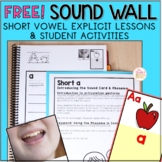 FREE Sound Wall Explicit Lessons and Sound Wall Activities