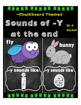FREE Sounds of Y Posters - chalkboard theme