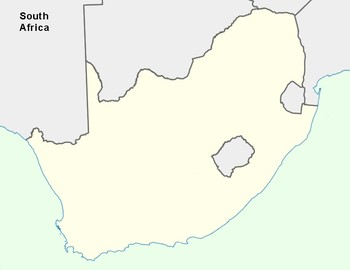 Free South Africa Map Outline By The Harstad Collection Tpt