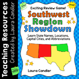 FREE Southwest Region Showdown | States and Capitals Game