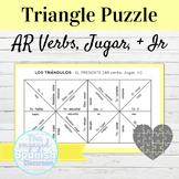 Spanish Present Tense AR Verbs Jugar and IR Puzzle FREE