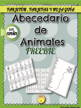 FREE Spanish Animal ABC Card - Tarjeton del Abecedario de Animales