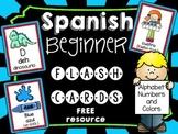 FREE Spanish Beginner Flash Cards