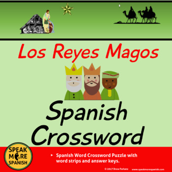 FREE Spanish Christmas and Los Reyes Magos Crossword Puzzle *Rompecabezas Gratis