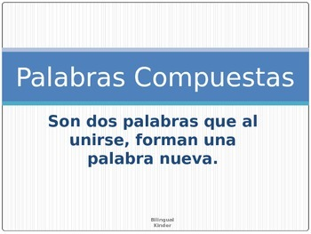 Palabras compuestas-Spanish Compound Words