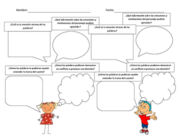 FREE Spanish Dialogue Graphic Organizer