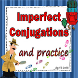 Spanish Imperfect Conjugations Notes and Practice Powerpoint Bundle