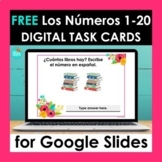 FREE Spanish Numbers 1-20 Task Cards for Google Slides | D