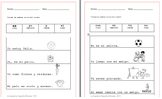 FREE Spanish Sight Word Coloring Worksheets.