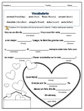 Spanish Valentine Worksheet