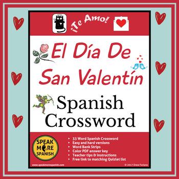 Spanish Valentine's Day Activities. El Día de San Valentín. Spanish Puzzles