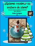 FREE Spanish snowman art activity