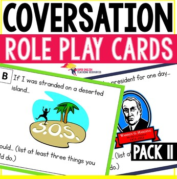 Speaking Role Play Cards Pack 11 ESL Speaking and Listening Practice