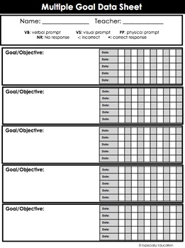 FREE Special Education Data Sheets (editable)