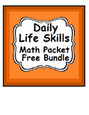 FREE Special Education Life Skills Math Daily Warm Up with