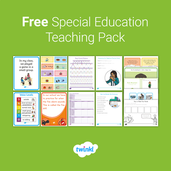 FREE Special Education Teaching Pack