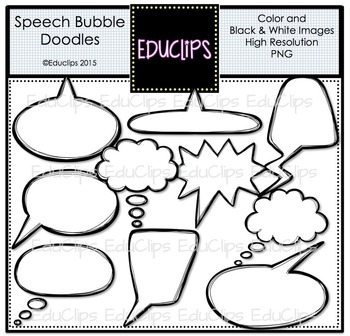 ~FREE~ Speech Bubble Doodles Clip Art