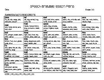 FREE! Speech-Language Lesson Plans: January Week 1