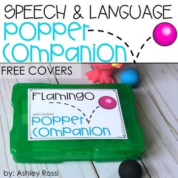 FREE Speech & Language Popper Companion Covers