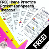 FREE Speech Therapy Home Practice Packet!