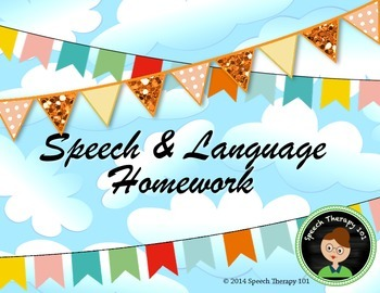 *FREE*  Speech Therapy Homework Sheets