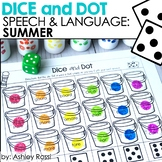 FREE Speech Therapy Summer: Dice and Dot