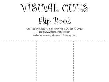 Speech Therapy: Visual Cue Flip Book