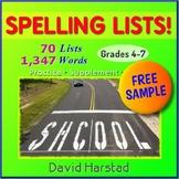 FREE - Spelling | 4 Lists (Gr. 4-7)