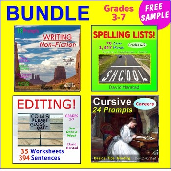 """FREE - Spelling Activities for Any List of Words: """"Scrabble"""" (Gr. 3-7)"""