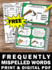 FREE Spelling Activities & Games with Frequently Misspelle