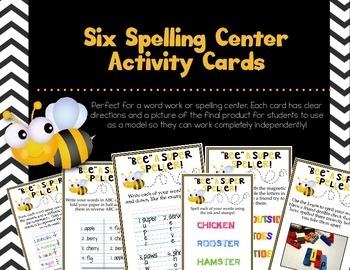 FREE Spelling Center Activity Cards