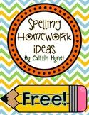 FREE Spelling Homework Ideas