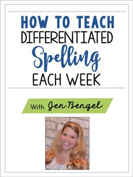 FREE Spelling Webinar Workbook