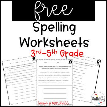 picture regarding Printable Spelling Worksheets named Absolutely free Spelling Worksheets 3rd-5th Quality Spelling Teach