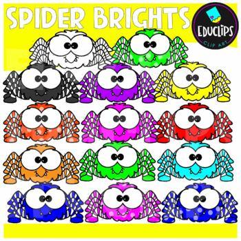 FREE Spider Brights Clip Art Bundle {Educlips Clipart}