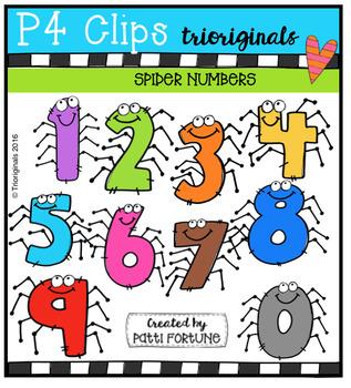 FREE  Spider Numbers {P4 Clips Triorignals Digital Clipart}