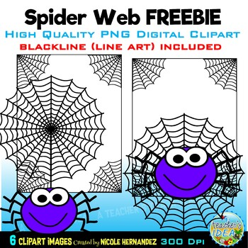 FREE Spider Web Clip Art for Personal and Commercial Use