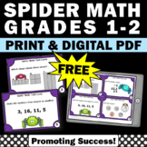 FREE 1st or 2nd Grade Halloween Math Center Games & Activities w/ Task Cards