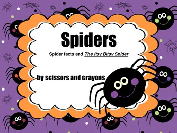 FREE- Spiders and Itsy Bitsy Spider